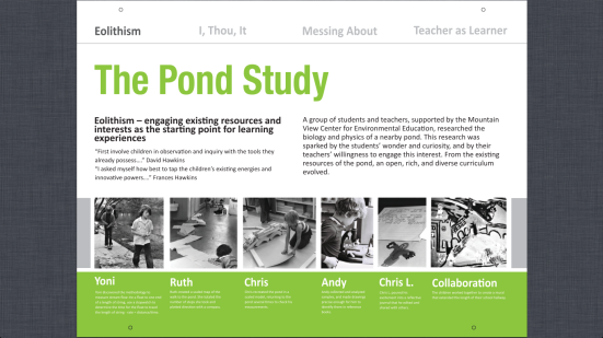 Eolithism 1 The Pond Study