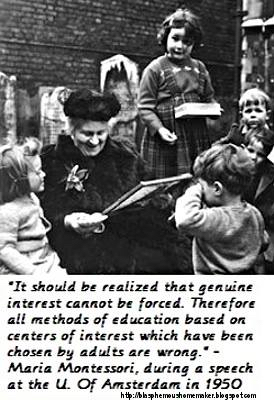 Maria Montessori on Interests