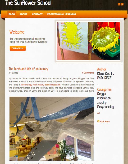The Sunflower School Blog