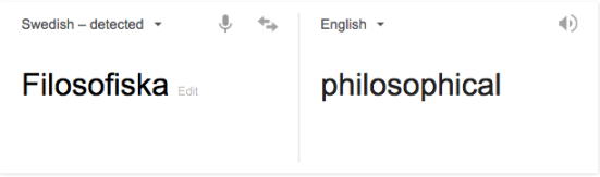 Translation = philosophical