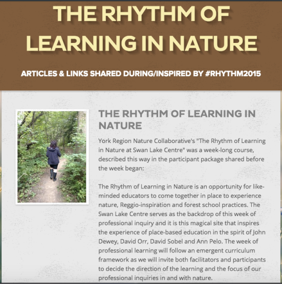 Articles and Links shared during #Rhythm2015