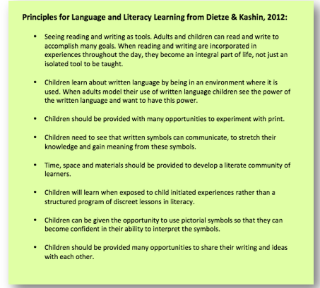 Principles for Language and Literacy Learning