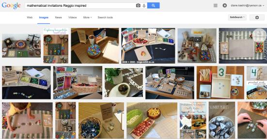 Reggio inspired math
