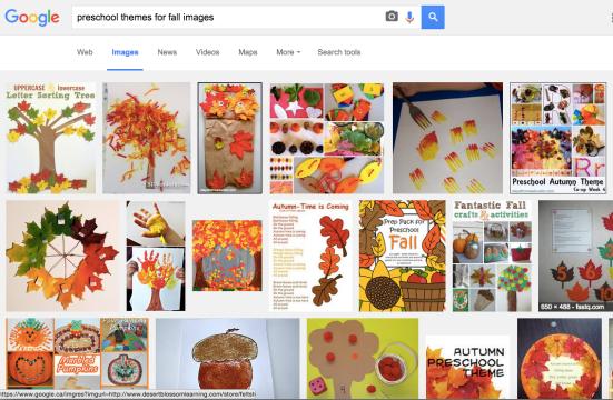Preschool Themes for Fall