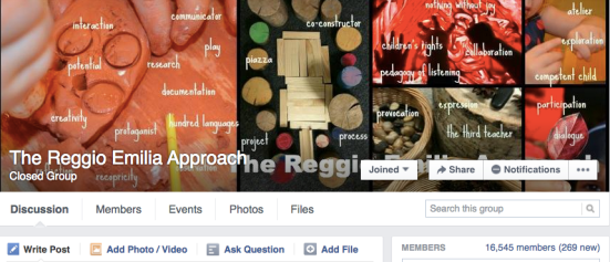 The Reggio Emilia Approach Facebook Group