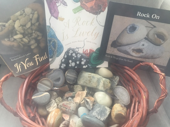 rocks and books