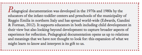 The Gift of Pedagogical Documentation