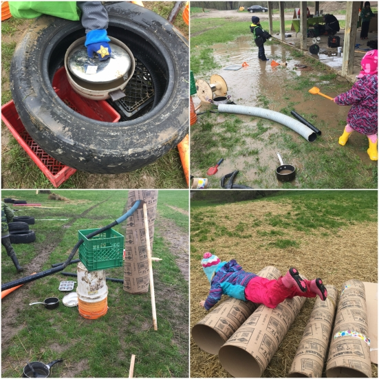 Loose Parts for Adventure Play Collage