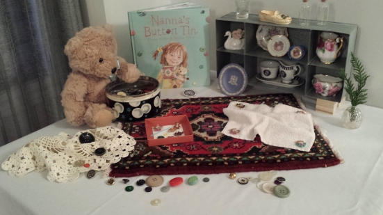 Story Table Nanna's Button Tin