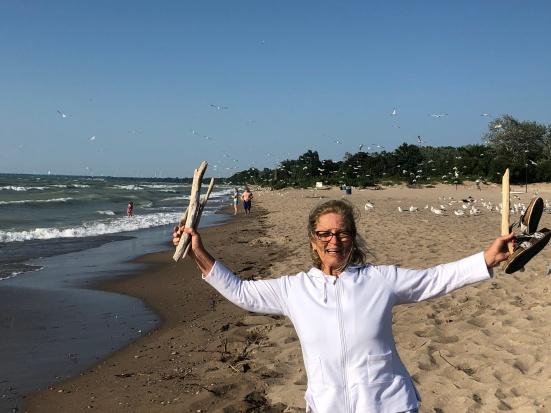 Cindy at the beach