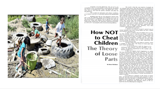 How Not to Cheat Children: The Theory of Loose Parts