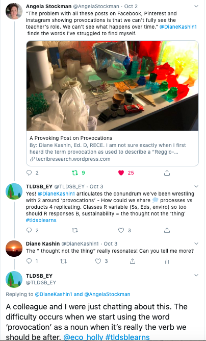 Twitter thread on provocations